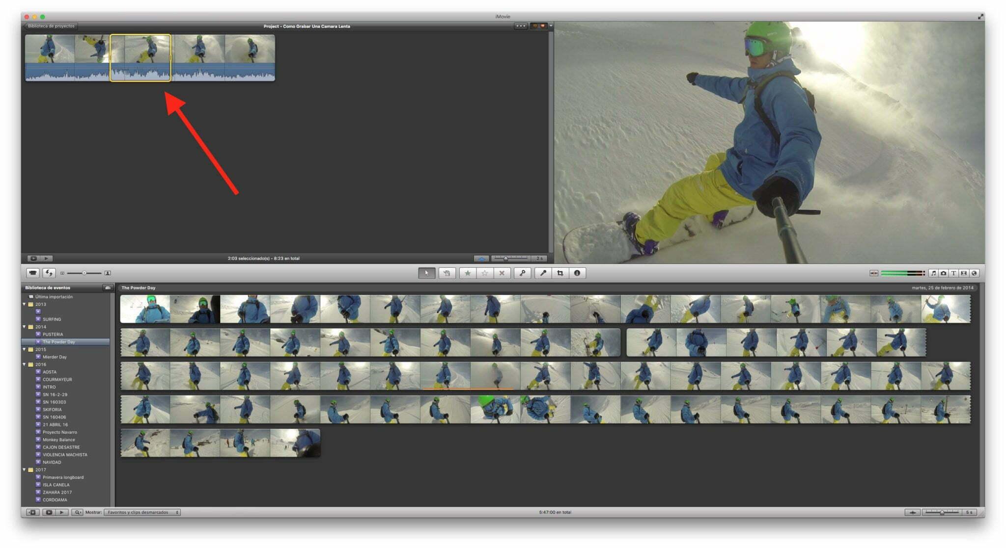 Cómo grabar una cámara lenta con tu Gopro
